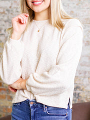 foldover shoulder sweater