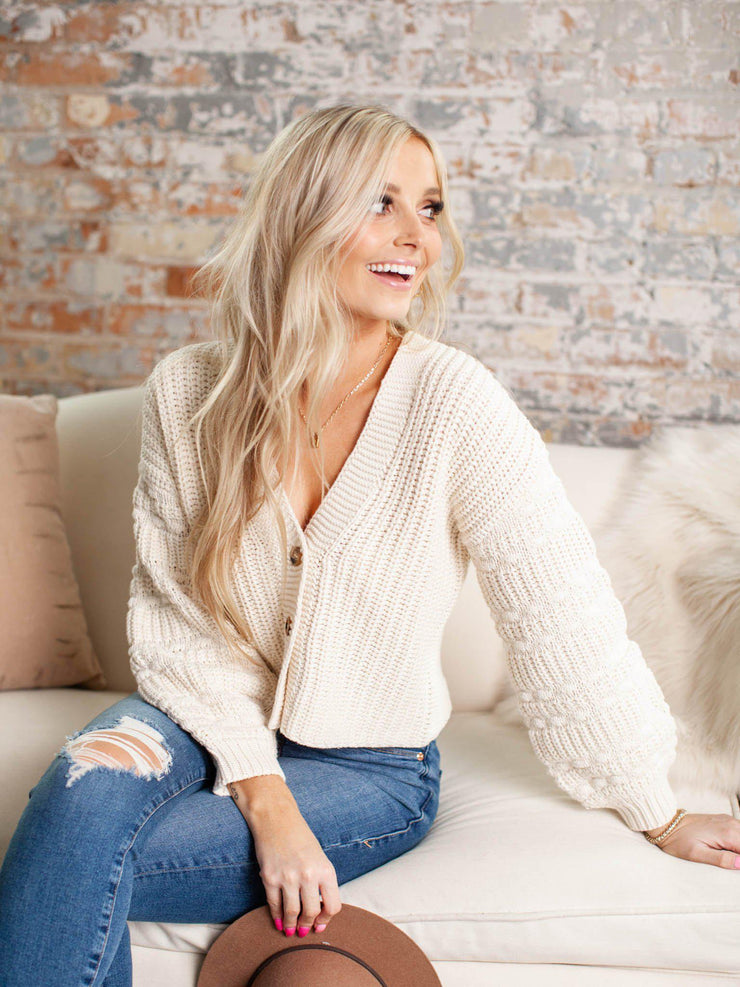 saltwater luxe button front cardigan