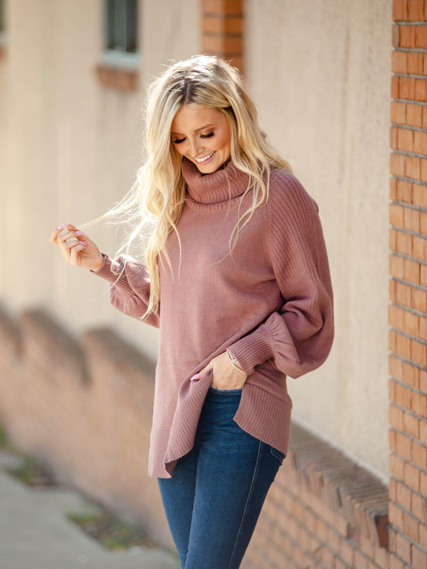 Oversize Ribbed Detail Sweater
