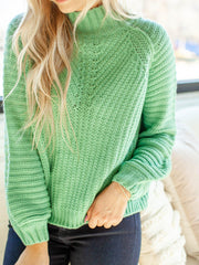 mixed knit sweater