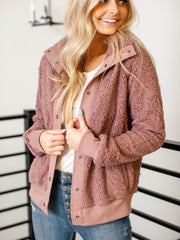faux fur sherpa cover up