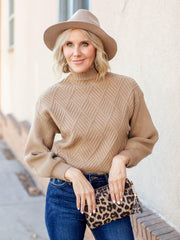 mixed texture sweater