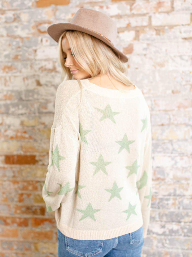 light star pattern sweater