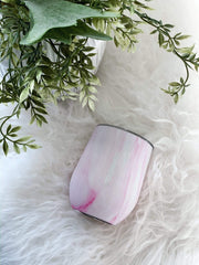 Pink Marble 12 Oz Corkcicle Stemless