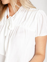 pleated top blouse