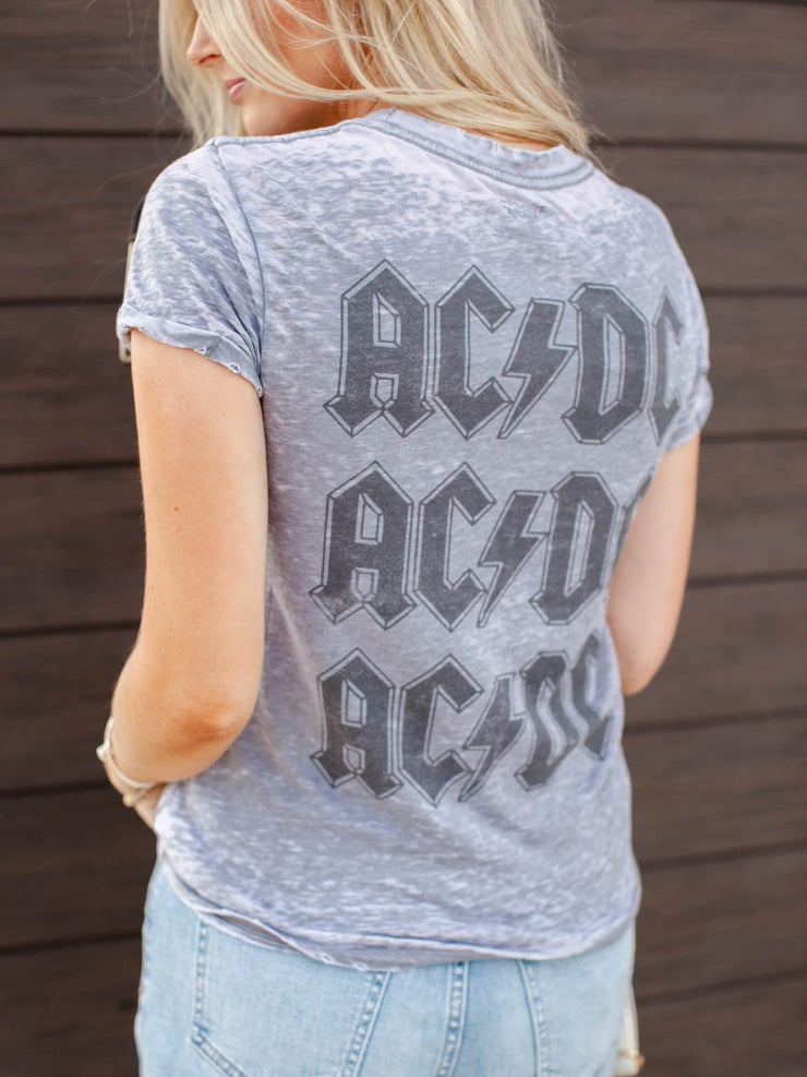 AC/DC Burnout Distressed Tee