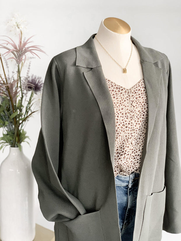 Coralyn Long Pocket Front Blazer