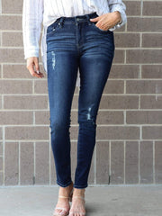 KanCan Super Skinny Light Distressed Jeans