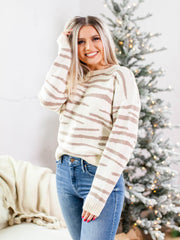 neutral zebra sweater