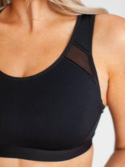 black spanx sports bra