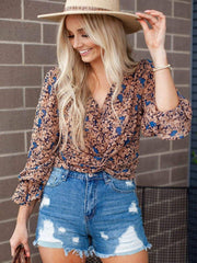 Lucy Paris Floral Printed Twist Front Top