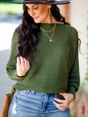 Ribbed Dolman Long Sleeve