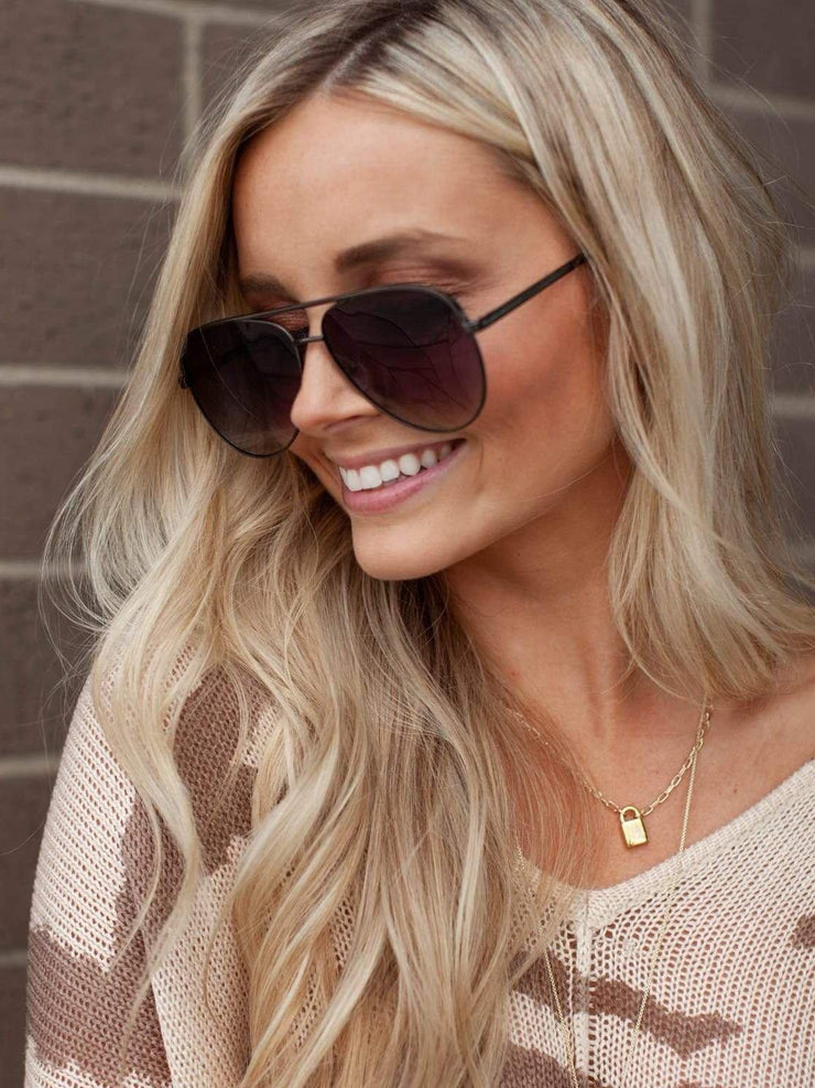 Dark Aviator Sunglasses