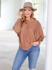 Camel Color dolman Top