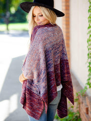 Multi Color Cape Cardigan