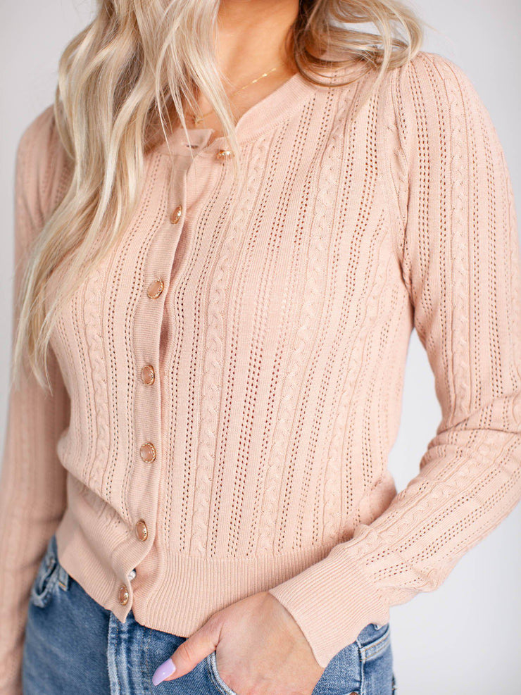 cropped heartloom cardigan