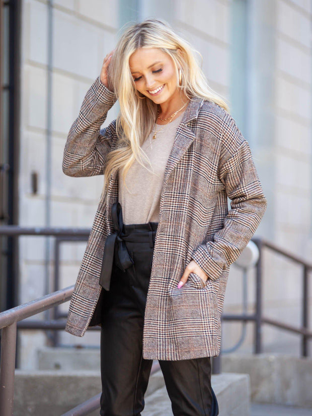 Pocket plaid Coat