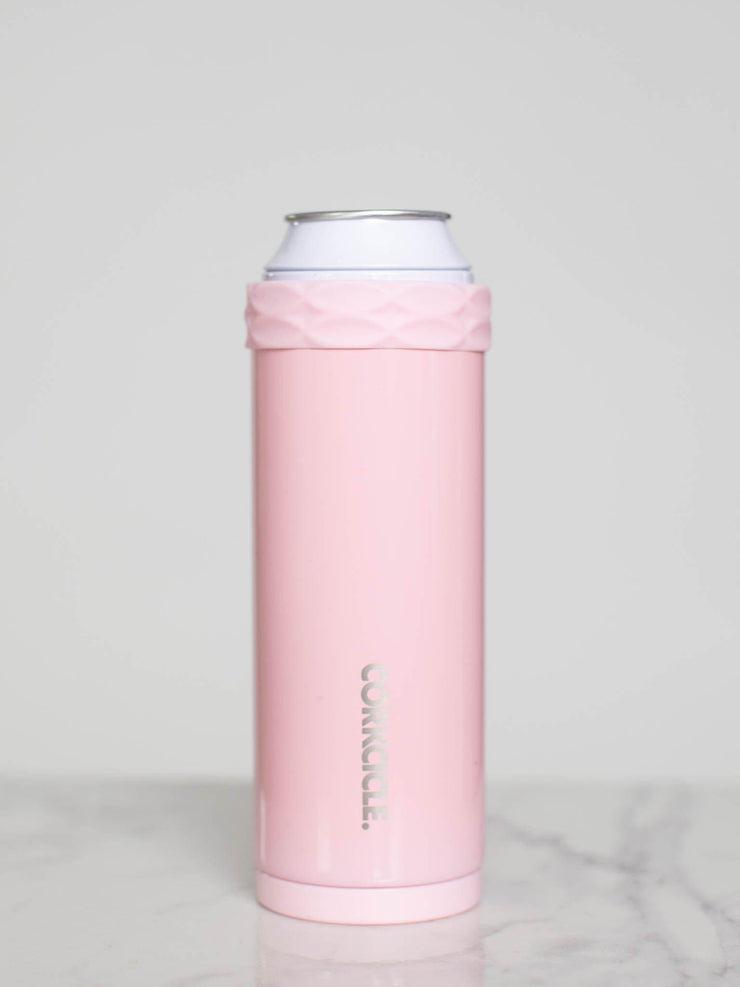 pink slim can cooler