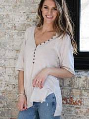 Free People Vintage Washed Henley