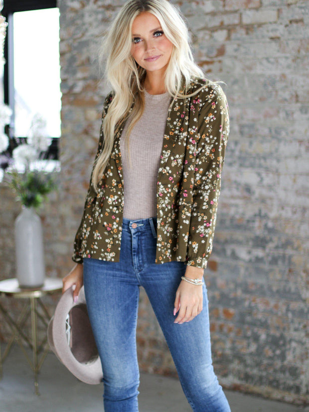 Saltwater Luxe Printed Floral Blazer