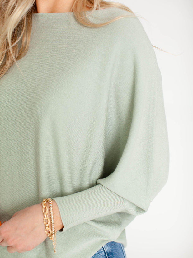 soft green dolman top