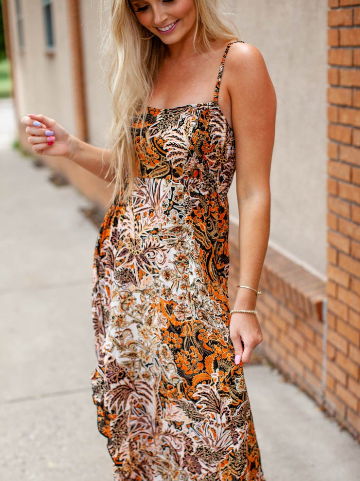 Free People Bold Floral Maxi Dress