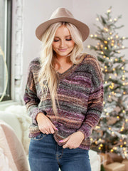 colored stripe sweater