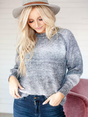 raglan sleeve ombre sweater