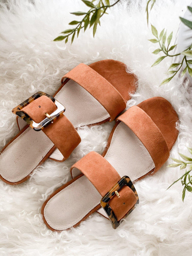 Sanctuary Double Strap Buckle Sandal