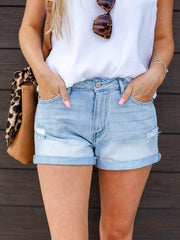 KanCan Light Cuffed Hem Shorts