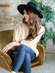 Textured Puff Sleeve Sweater