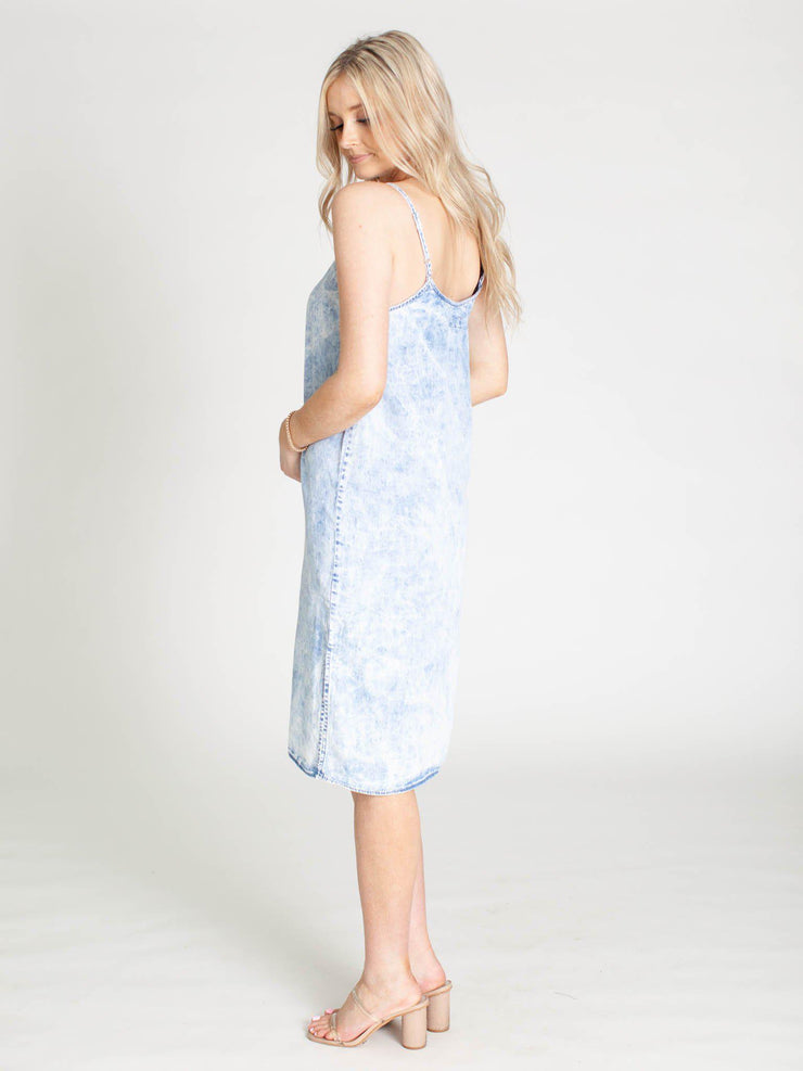 Thread & Supply Acid Wash Carmel Dress