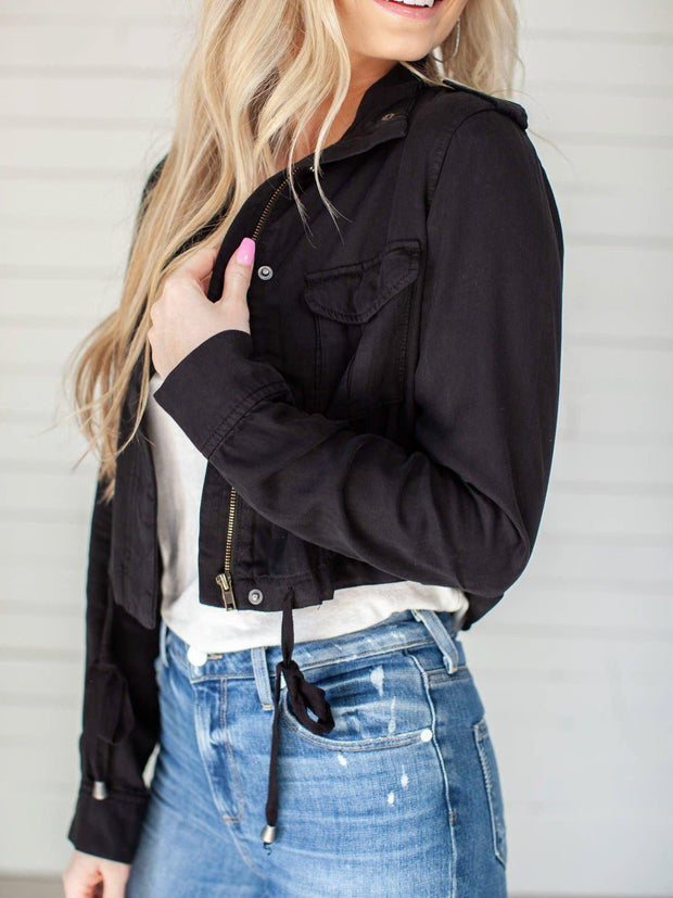 Zip Front Cropped Jacket
