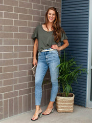 Free People Raw Hem Jegging