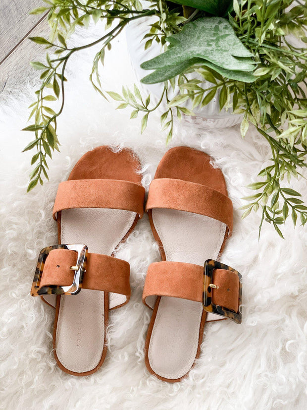 Sanctuary Tortoise Buckle Slip On Sandal