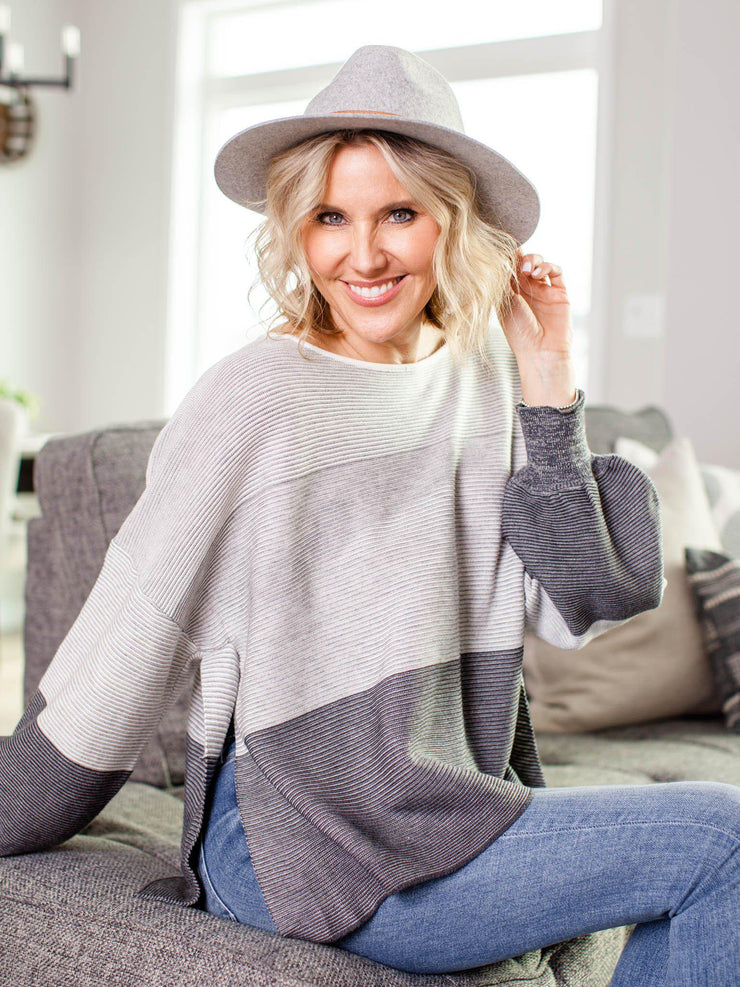 ombre rib sweater
