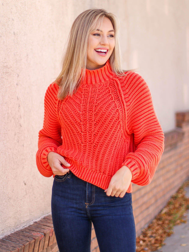 free people cropped knit sweater