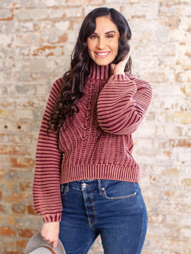 garnet free people sweater