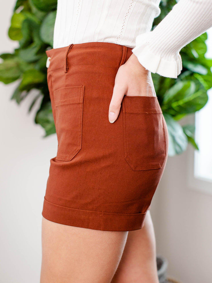 pocket front shorts