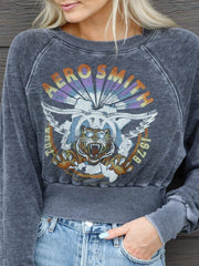 Cropped Aerosmith Tour Sweatshirt