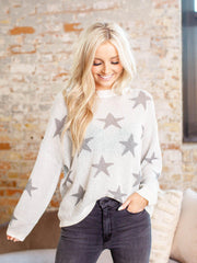 round neck star sweater