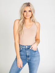 v-neck seamless tank