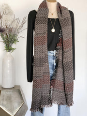 Multi Color Color Block Stripe Scarf