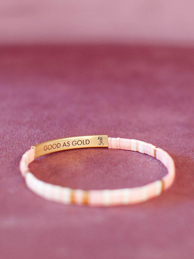 Scout Good As Gold Message Stone Bracelet