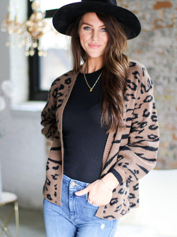 Animal Printed Cardigan