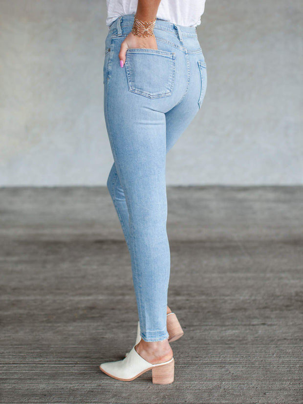 Citizens of Humanity High Rise Light Wash Denim Jeans