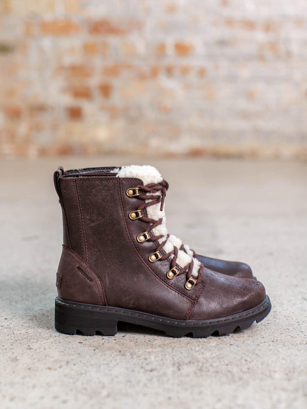 Sorel sherling lace up hiker boot