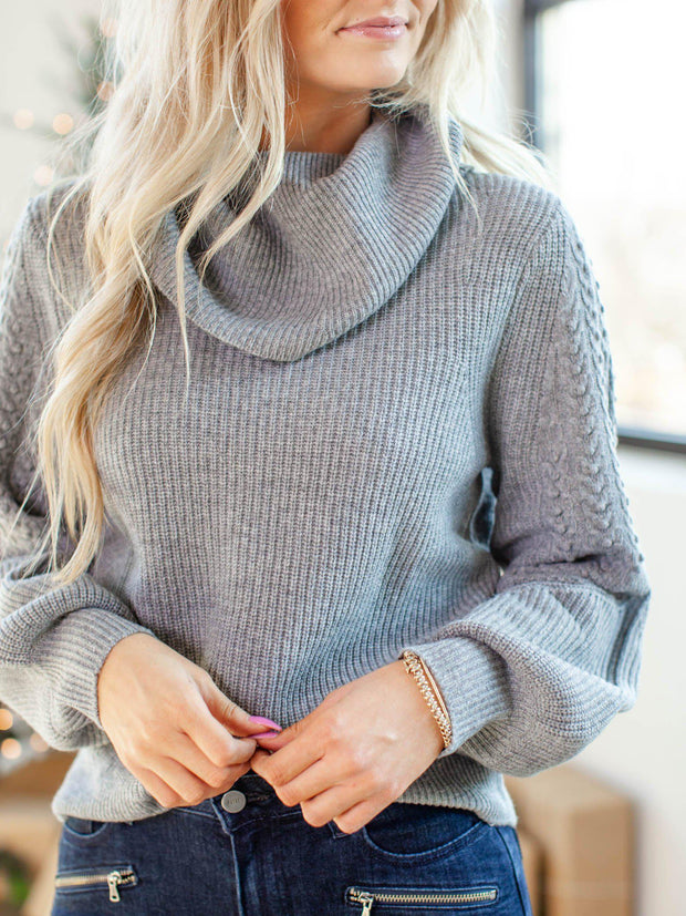 PAIGE shoulder detail sweater