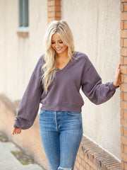 AGOLDE Grapevine Cropped Sweatshirt