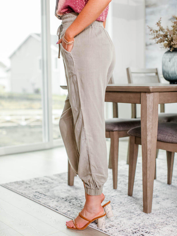 taupe jogger pant